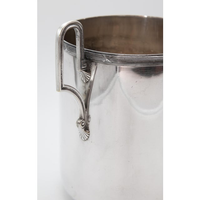 Mid 20th Century Vintage French Silver Plate Neoclassical Champagne Bucket For Sale - Image 11 of 12