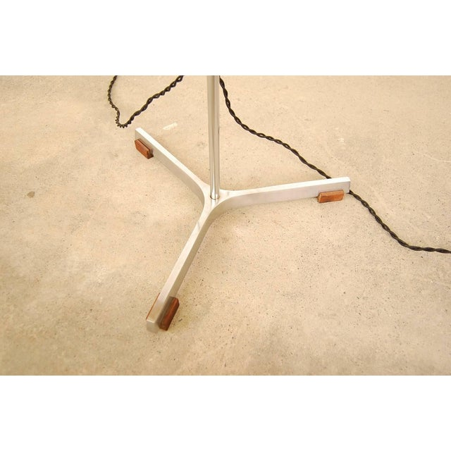 Fog & Mørup Floor Lamp in Stainless Steel and Teak by Fog & Mørup For Sale - Image 4 of 6