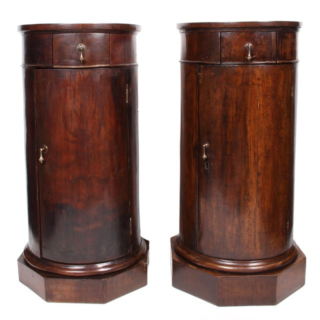19th C. Italian Column Pedestal Cabinets - a Pair For Sale - Image 12 of 12
