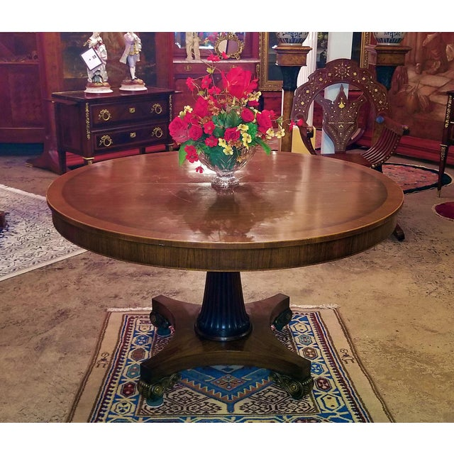 Gold Late 19th Century American Mahogany Extendable Dining or Center Table For Sale - Image 8 of 13