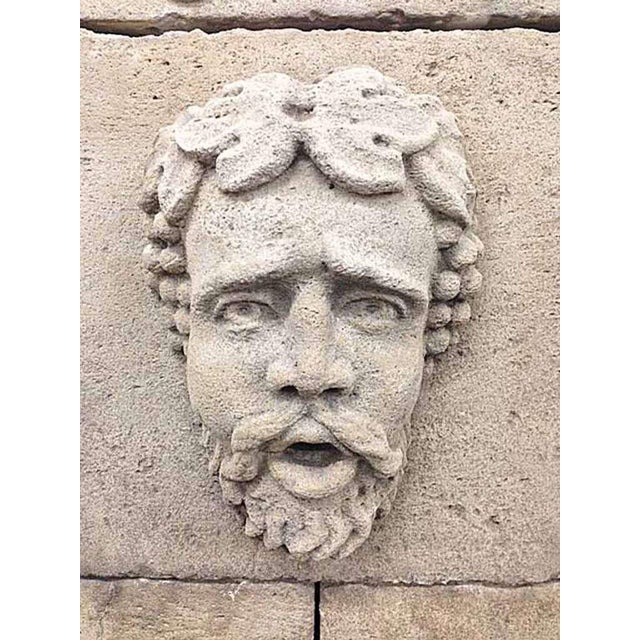 French Antique Bacchus Wall Fountain For Sale - Image 3 of 6