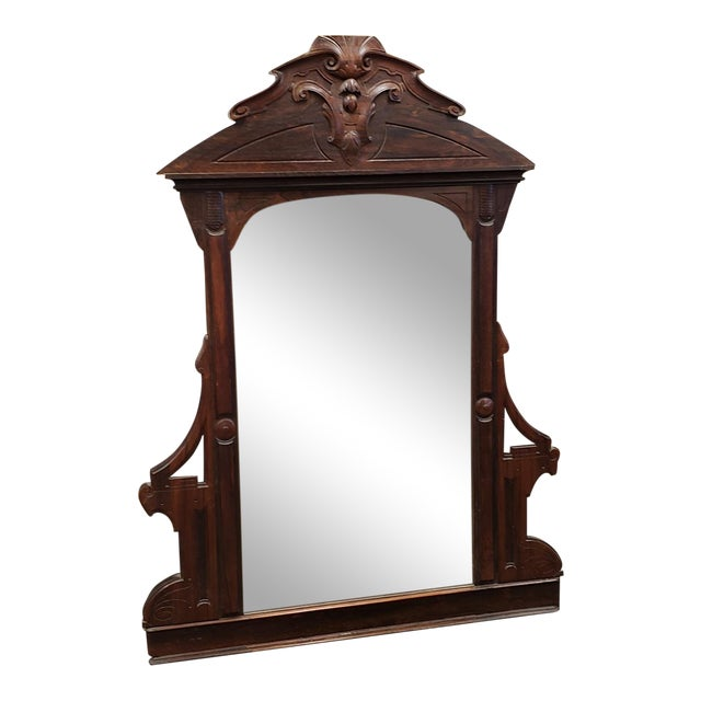 Antique Victorian Eastlake Style Rosewood Bedroom Dresser Mirror C1880 For Sale