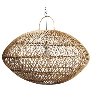 Raw Wicker Lantern Large For Sale