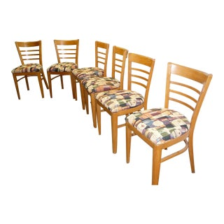 Mid-Century Thonet Beechwood Dining Chairs - Set of 6 For Sale