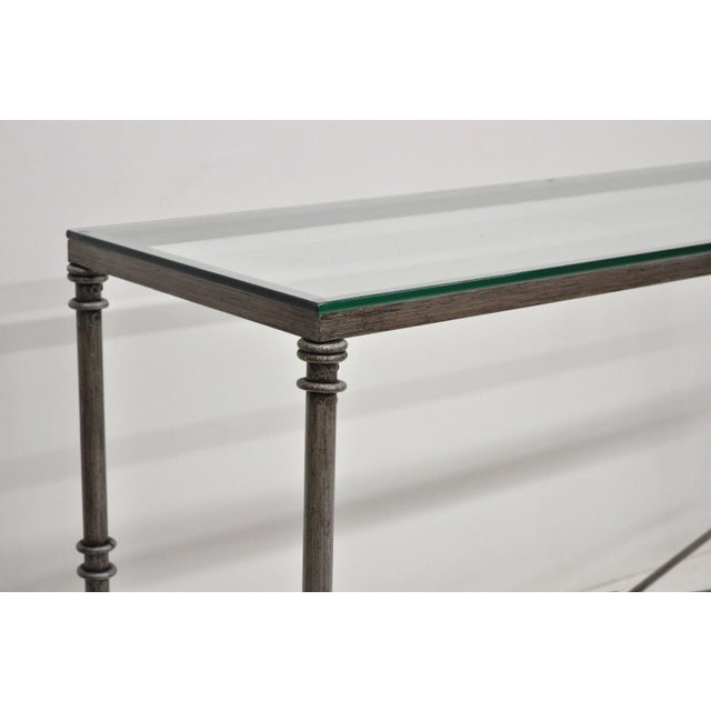 Pier 1 Medici Collection Pewter Iron Console Hall Sofa Table With ...