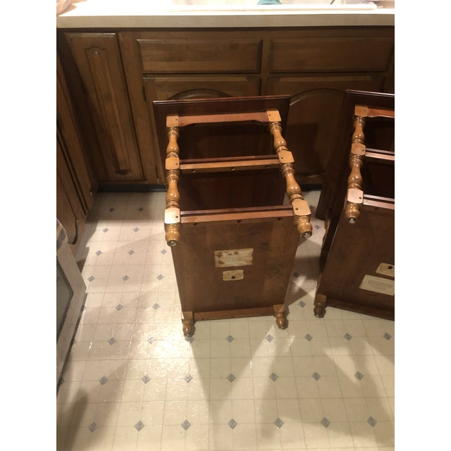1950s Cherry Stickley End Tables - a Pair For Sale - Image 10 of 13