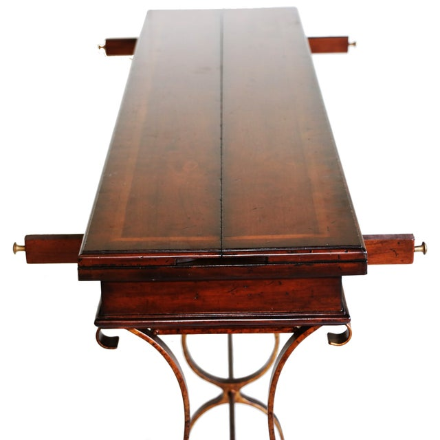 Stanley Villette Flip Top Console Table For Sale - Image 5 of 8