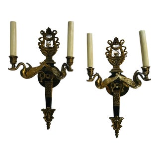 1920s Vintage French Empire Sconces- A Pair For Sale