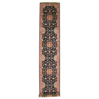 "Pasargad N Y Pak Persian Tabriz Design Hand-Knotted Rug - 2'7"" X 14' For Sale"