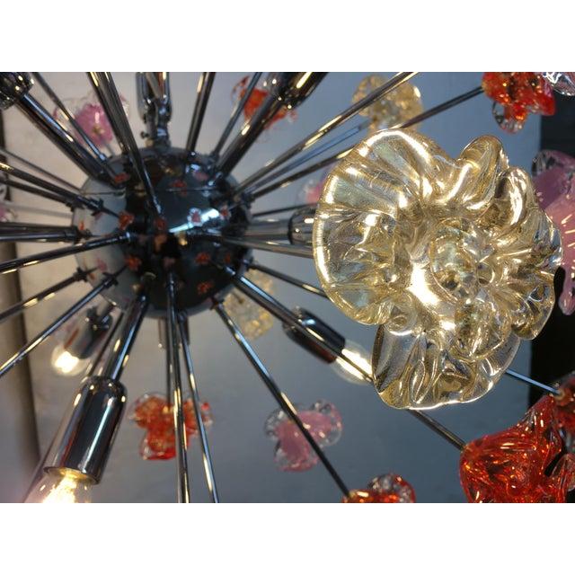 2010s Murano Glass Sputnik Flower Chandelier For Sale - Image 5 of 8