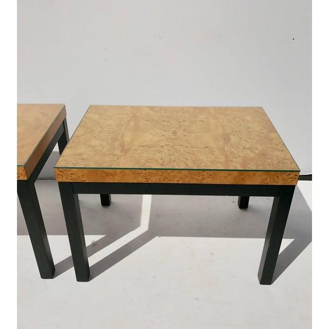 Milo Baughman Burl Wood Side/ End Tables - A Pair - Image 4 of 10