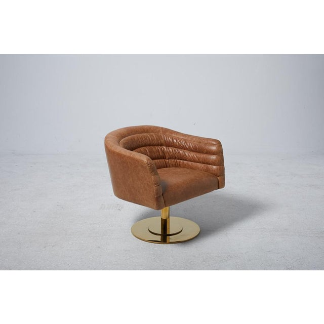 Cupa Brown Leather Chair - Image 3 of 5