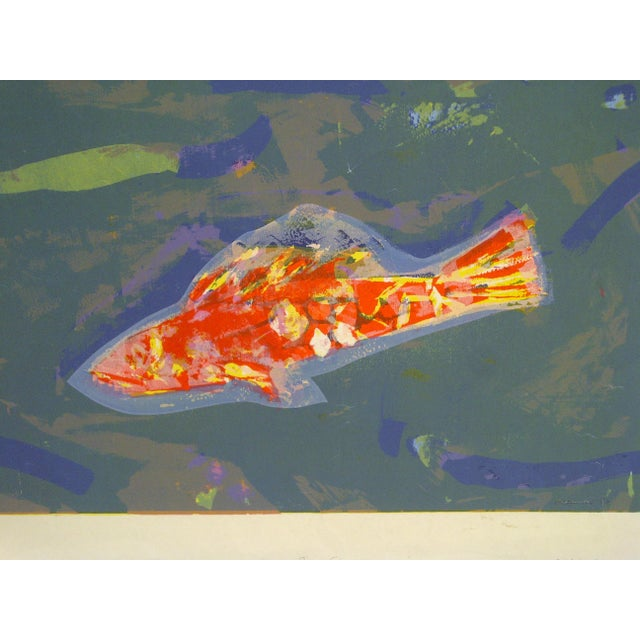 """This is a limited edition signed and numbered (X) print that is titled """"Gold Fish"""" by Okamura."""