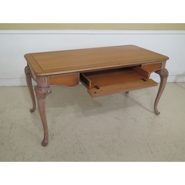1990s 1990s Vintage Italian Style Paint Decorated Desk & Matching Chair For Sale - Image 5 of 13