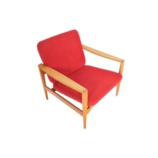 Illum Wikkelsø Ek Lounge Chair in Oak For Sale