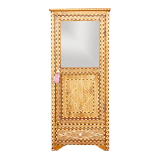 Colonial Bone Inlaid Display Cabinet For Sale