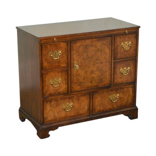 Kindel George III Style Burl Wood & Walnut Chest of Drawers