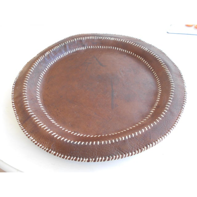 Hand Stitched Leather Tray - Image 3 of 6