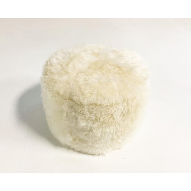 Not Yet Made - Made To Order Forsyth Sheepskin Pouf Ottoman For Sale - Image 5 of 5