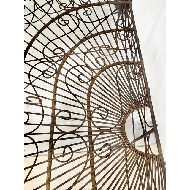 Late 19th Century French Wire Iron Garden Bench For Sale In Los Angeles - Image 6 of 10