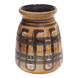 1960s Lapid Israel Pottery Wide Mouth Vase For Sale