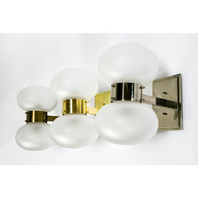 Dogfork Banded Globe Sconces in Various Finishes For Sale - Image 10 of 11