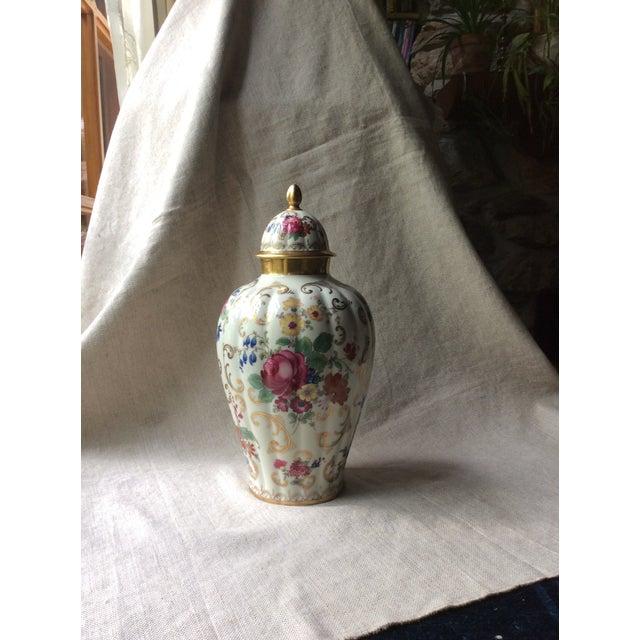 Antique Austrian Porcelain Temple Jar For Sale - Image 11 of 13
