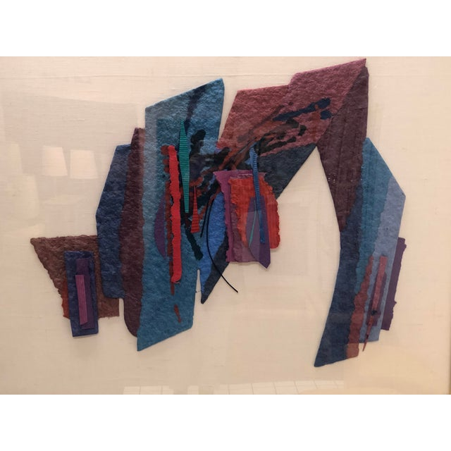 Contemporary Abstract Large Format Handmade Paper Collage by Sabra Richards For Sale - Image 3 of 10