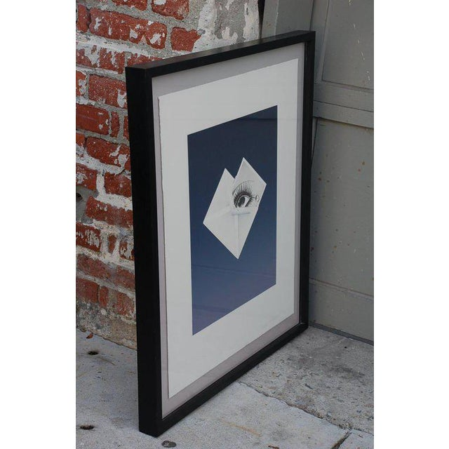Mid-Century Modern Surrealist Framed Print by Bruce Richards For Sale - Image 3 of 6