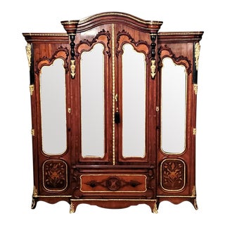 Large 19th C. French Rococo Neoclassical Revival Style Vitrine For Sale