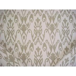 Ralph Lauren Ezra Flax Sandstone Ikat Damask Upholstery Fabric - 9 3/4 Yards For Sale