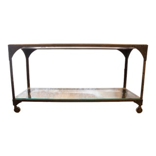 Antique Soapstone Industrial Counter Table For Sale