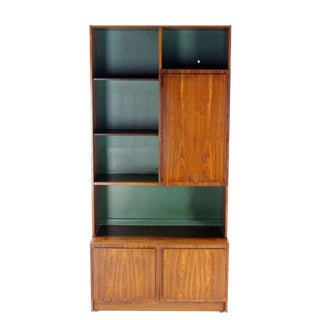 Danish Mid-Century Modern Rosewood Wall Unit Shelves For Sale