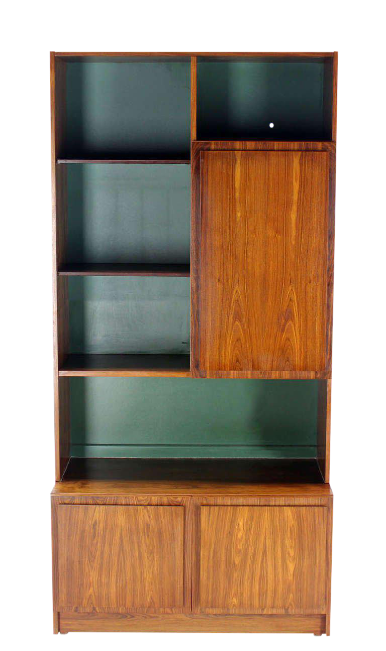 Danish Mid Century Modern Rosewood Wall Unit Shelves