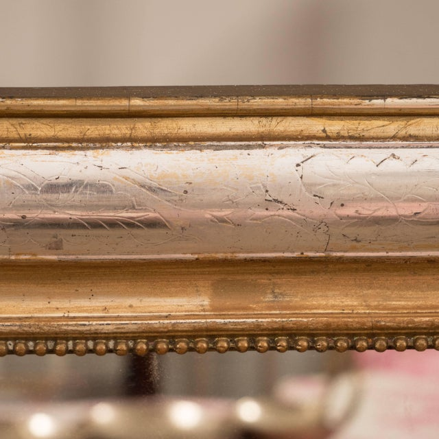 Late 19th Century Giltwood and Silvered Louis Philippe Mirror For Sale - Image 5 of 8