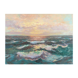 Sunset Waves, George North Morris, C1950 For Sale