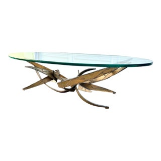 Brutalist Silas Seandel Torch Cut Coffee Table For Sale