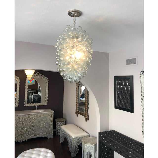 2010s Modern Clear Handblown Glass Bubble Light Fixture For Sale - Image 5 of 8