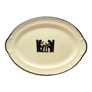 1930s Taylor Smith Taylor Silhouette Pattern Platter For Sale