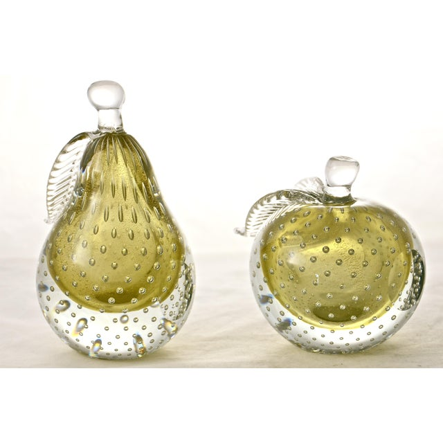 Gold Murano Apple & Pear Bookends - A Pair - Image 5 of 7