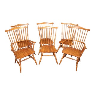 Tell City Colonial Style Maple Chairs Set/6 For Sale