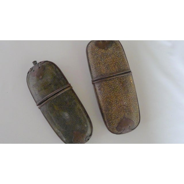 Chinese Antique Chinese Shagreen Eyeglass Cases - a Pair For Sale - Image 3 of 8