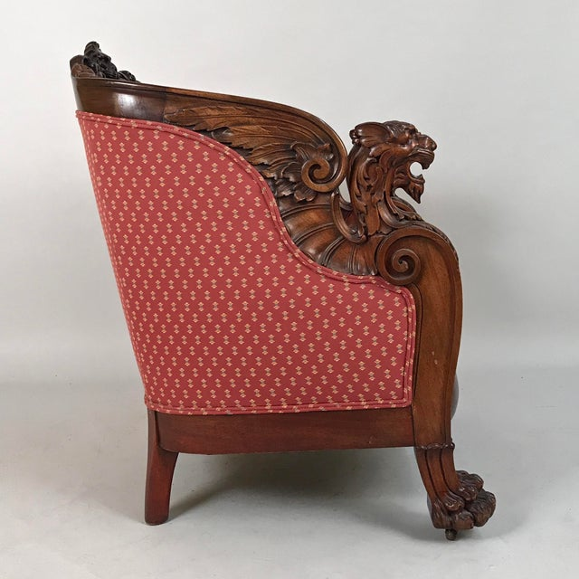 Early 19th Century English Regency Mahogany Armchair For Sale - Image 4 of 12