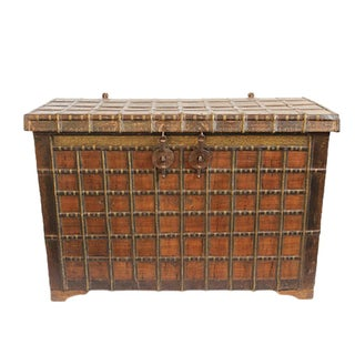 Antique Indian Dowry Trunk For Sale