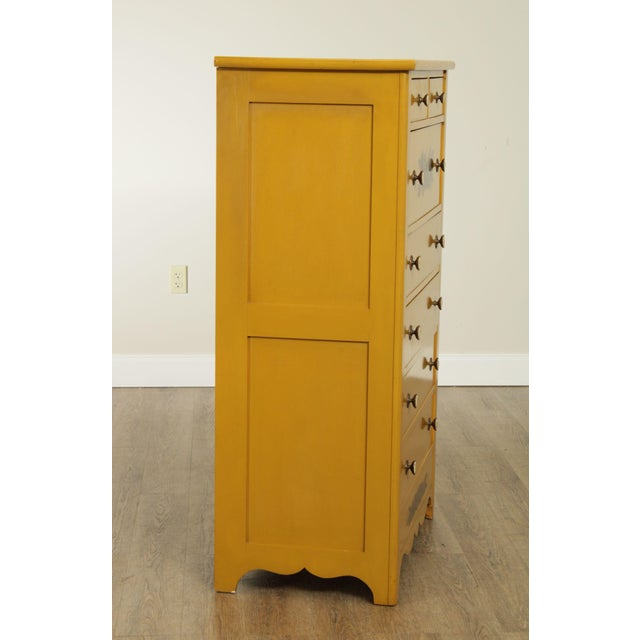 Hitchcock Hitchcock Vintage Yellow Painted Tall Chest of Drawers For Sale - Image 4 of 13