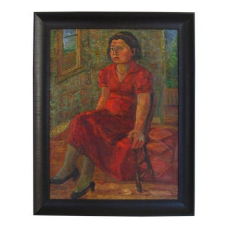 """Oil on Canvas, """"Portrait of Pearl"""", New York, 1935 For Sale"""
