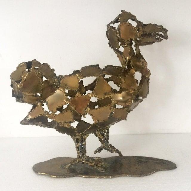 Silas Seandel Brutalist Brass Sculpture - Image 2 of 8