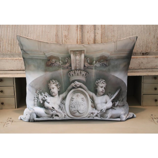 Architecture Photo Marble Overdoor Pillow For Sale - Image 11 of 13