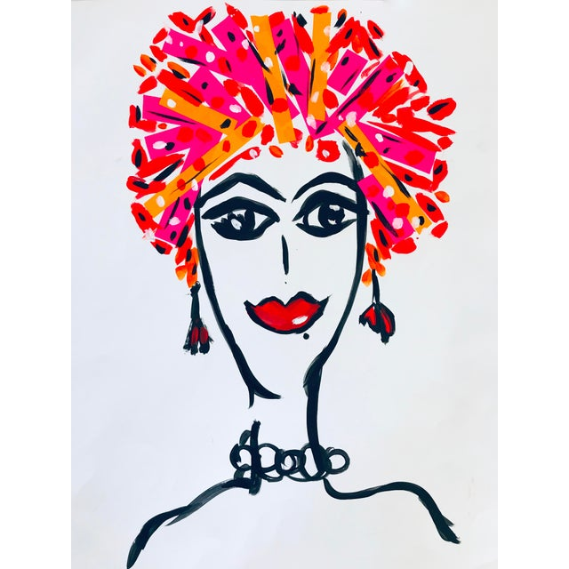 Pop Art Tony Marine Contemporary Portrait Painting For Sale In Palm Springs - Image 6 of 6