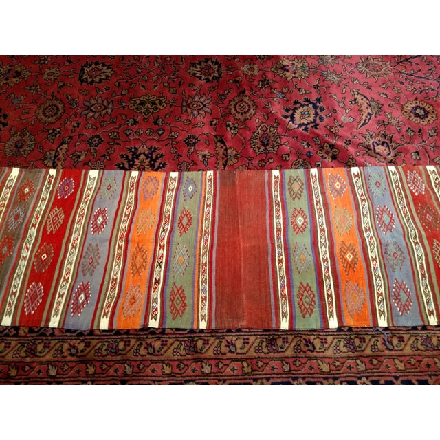 "Vintage Moroccan Kilim Runner Rug - 2' 3"" X 7' 10"" For Sale - Image 9 of 13"